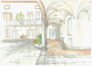 cortile-acquarello
