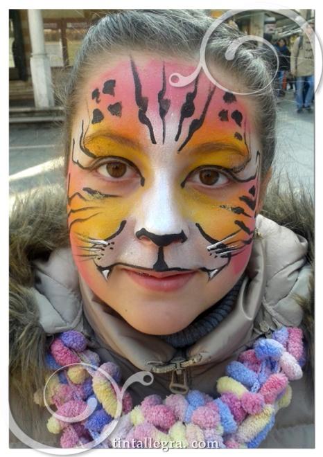 carnevale tigre rosa